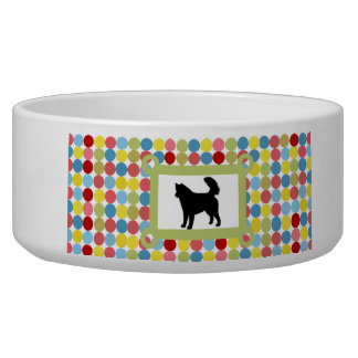Stylish Alaskan Malamute Dog Food Bowl