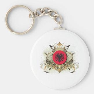 Stylish Albania Basic Round Button Keychain