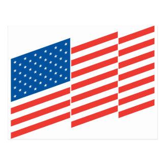 Stylish America Flag Postcard