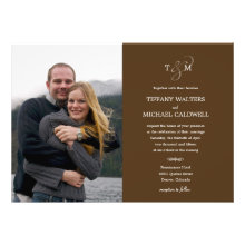 Stylish Ampersand Wedding Photo Invitation