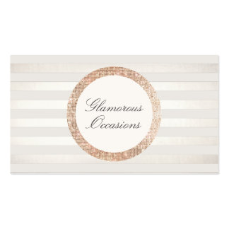 Stylish and Chic Event Planner and Party Oragnizer Double-Sided Standard Business Cards (Pack Of 100)