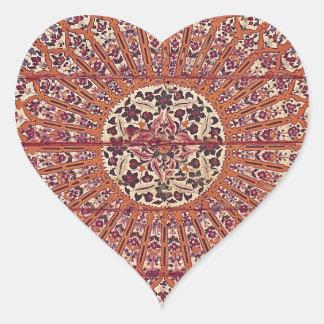 Stylish and Chic Morocco Patern Heart Sticker