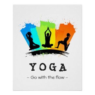 Stylish and Colorful Pilates YOGA Exercise Poster