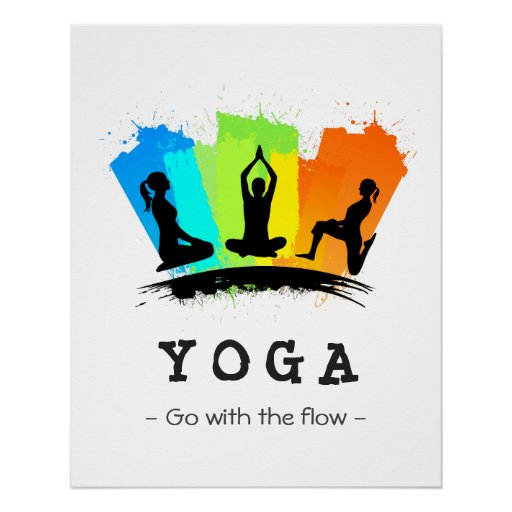 Pilates Mat Exercise Poster: Stylish And Colorful Pilates YOGA Exercise Poster