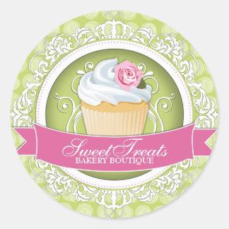 Stylish and Elegant Cupcake Box Stickers