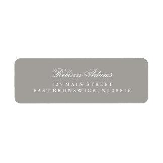 Stylish and Elegant Deep Gray Label