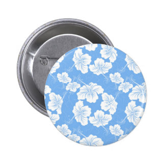 Stylish and Fashionable White Floral on Baby Blue Pin