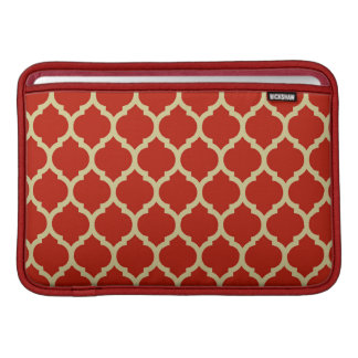 Stylish and Luxurious Red Lattice Pattern MacBook Air Sleeve