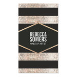 Stylish and Modern Faux Sequin Fashion and Beauty Business Card