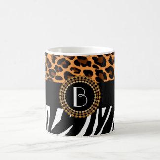 Stylish Animal Prints Zebra and Leopard Patterns Coffee Mug