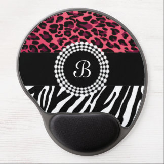 Stylish Animal Prints Zebra and Leopard Patterns Gel Mouse Pad