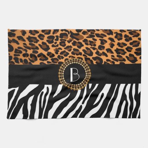 Zebra Tea Towels: Stylish Animal Prints Zebra And Leopard Patterns Kitchen