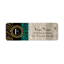Stylish Animal Prints Zebra and Leopard Patterns Label