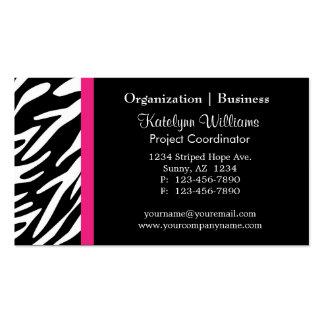 Stylish Appointment Zebra Stripes Business Cards
