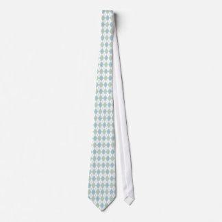 Stylish Aqua & Sea Foam Green Argyle Neck Tie