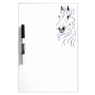 Stylish Arabian Horse Dry-Erase Board