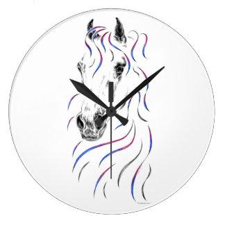 Stylish Arabian Horse Large Clock