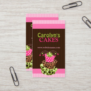 Cake and home baking businesses business cards templates zazzle stylish art cake bakery business card reheart Choice Image