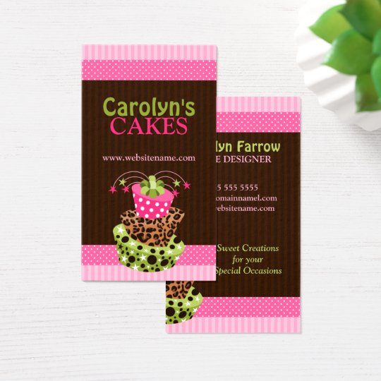 Stylish Art Cake Bakery Business Card