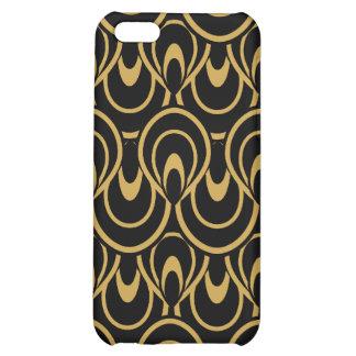 Stylish Art Deco Black Gold iPhone 5C Covers