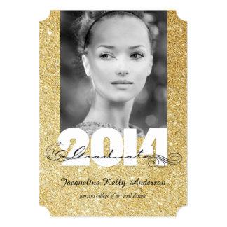 Stylish Artistic Scrolls 2014 Graduation Photo Cards