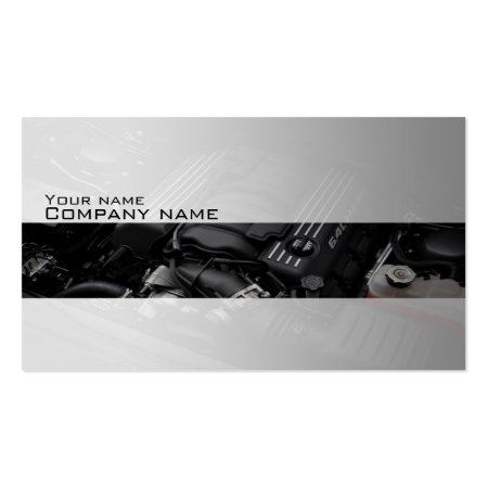 Stylish Car Engine Auto Repair Business Cards