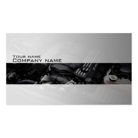 Stylish Car Engine Auto Repair Business Cards