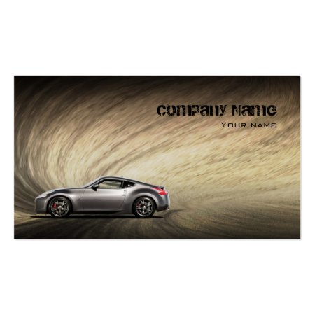 Sandy Road Stylish Automotive Business Cards