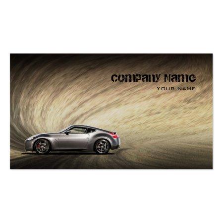 Sandy Road Stylish Automotive Business Cards