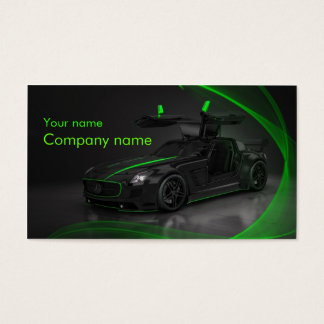 Stylish automotive business card