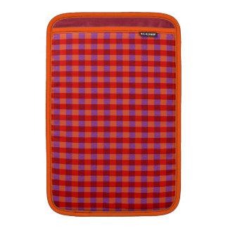 Stylish Autumn Colored Plaid Pattern MacBook Sleeve