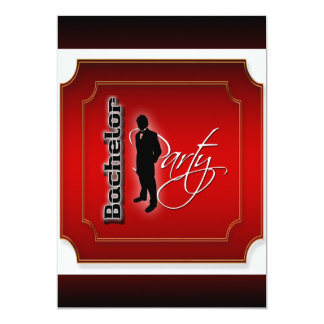 Stylish bachelor stag party personalize card