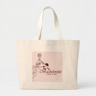 Stylish bachelorette party large tote bag