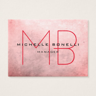 Stylish Background Modern Monogram Professional Business Card