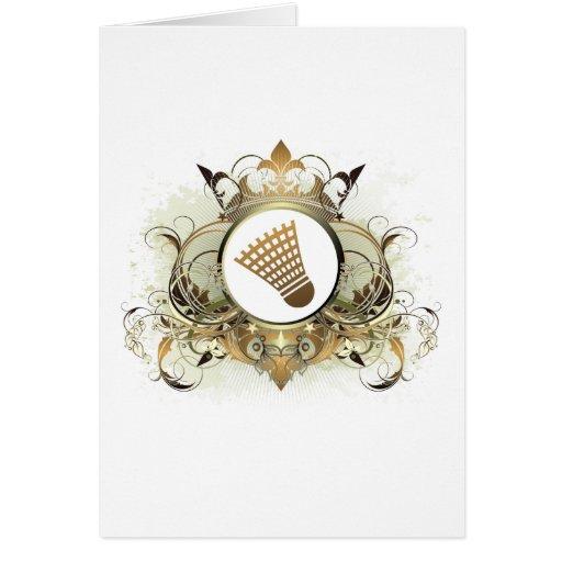 Stylish Badminton Greeting Cards