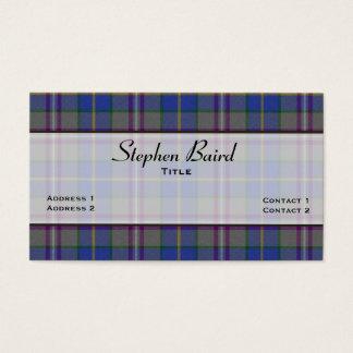 Stylish Baird Tartan Plaid Custom Business Card