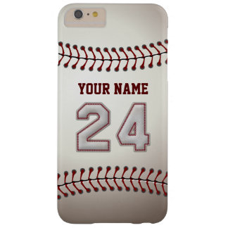 Stylish Baseball Number 24 Custom Name - Unique Barely There iPhone 6 Plus Case