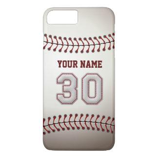 Stylish Baseball Number 30 Custom Name - Unique iPhone 8 Plus/7 Plus Case