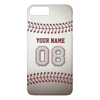 Stylish Baseball Number 8 Custom Name - Unique iPhone 8 Plus/7 Plus Case