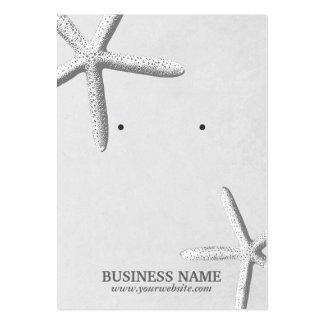 Stylish Beach Theme Starfish Silver Earring Holder Large Business Card