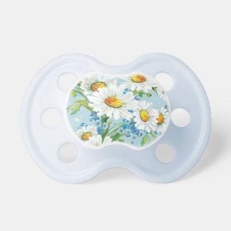 Stylish beautiful bright floral pattern 2 pacifier