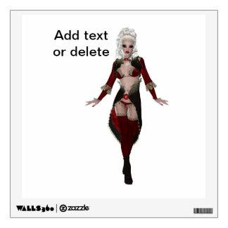 Stylish beautiful sensual blonde woman lingerie wall decal