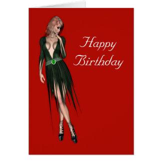 Stylish beautiful sensual woman card