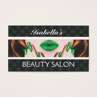 Stylish Beauty Salon Business Card-3 Business Card