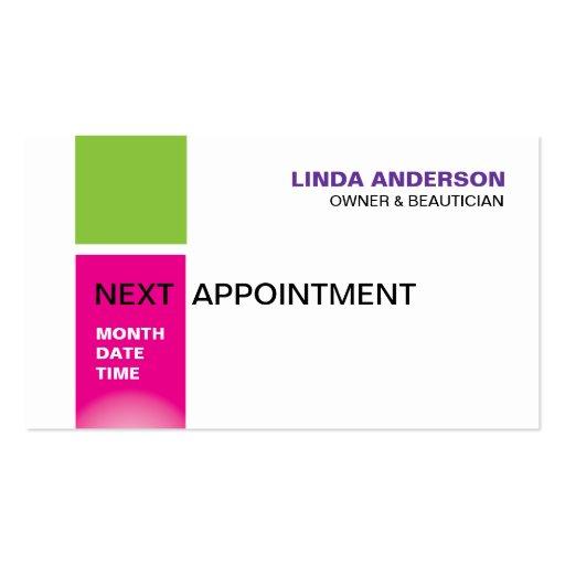 Stylish beauty salon business card template for Hair salon business card template