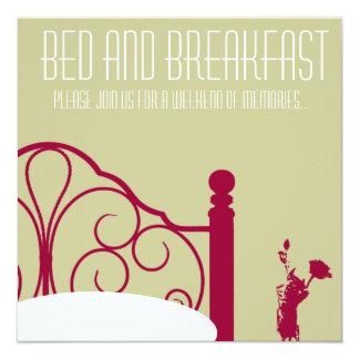 Stylish Bed and Breakfast Invitation