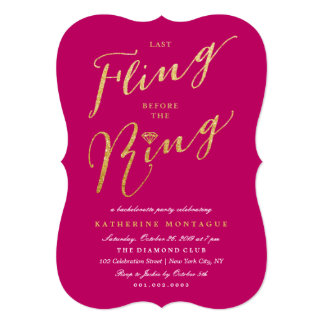 Stylish Before The Ring Bachelorette Party Invite