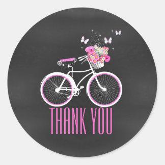 Stylish Bicycle Bridal Shower Sticker
