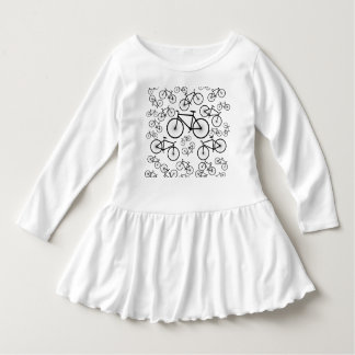 Stylish Bicycle Collage Dress