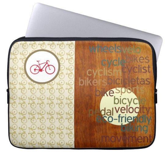 stylish biking related laptop sleeve
